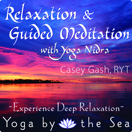 relaxation and guided meditation at yoga by the sea stonington ct